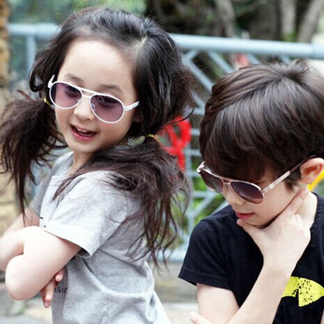 0bda4b7e19 2015 Korean children round metal frame sunglasses new boy and girl glasses  baby high quality UV sunshades