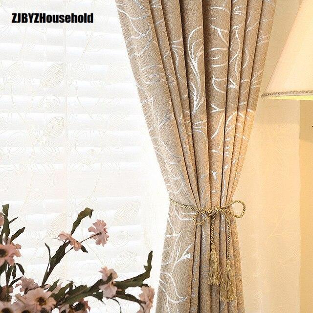 2018 nuove tende per soggiorno sala da pranzo camera da letto foglia colorata semplice e moderno - Tende sala moderna ...