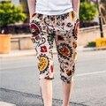 Pantalones de los hombres casuales newman roto hermoso diseño tendencia de la moda en 7 minutos de pantalones pantalones ocasionales flojos