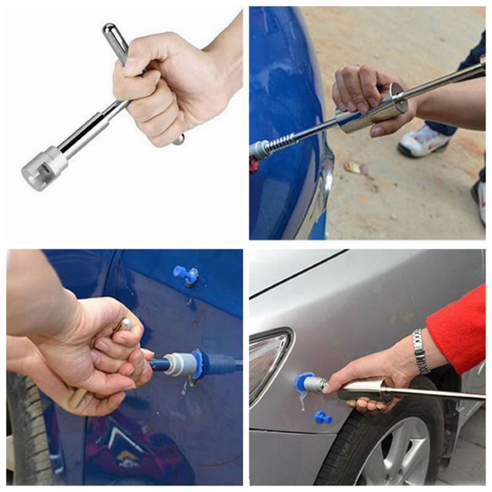 PDR Tool Set Dent Puller Removal Slide Hammer Tool For Auto Paintless Dent Repair +18 Glue Tabs for Car Body Repair Tool Styling