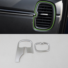 Car Accessories ABS Interior Front Side Air Vent Outlet Cover Trim For Kia K2/Rio 2017 Car Styling 1 set car stying chrome for kia rio 4 k2 2017 2018 air outlet circle cover interior mouldings decoration frame