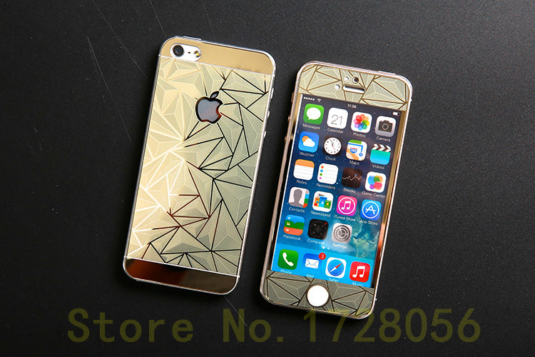 check out 8f417 9229e US $77.0 |For Iphone 5 5s plating 3D diamond front and back colorful  tempered glass explosion proof color screen protector+retail package-in  Phone ...