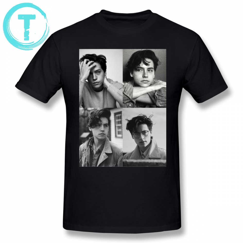 Cole Sprouse T Shirt Cole Sprouse Collage B W T-Shirt Male Cotton Tee Shirt Classic Printed Fun Plus size Short-Sleeve Tshirt