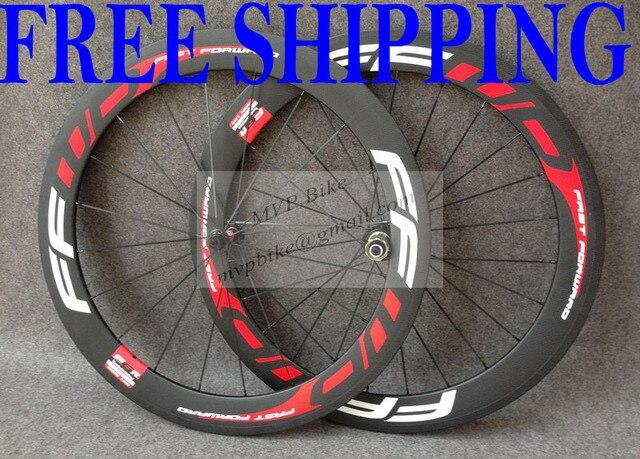 11a87da214b Wholesale Full Carbon Fiber wheels Clincher carbon 60mm wheels Road Bike  carbon wheels MVP BIKE-Red FFWD-PP32-60mm free shipping