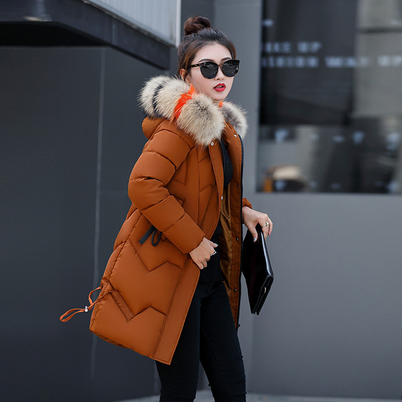 2019 Promotion Top Fashion Winter Long Mianfu Woman Thickening Loose Coat Suit-dress Cotton Cotton-padded Korean Clothes Tide