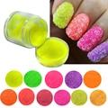 1 Bottle Colorful Nail Sugar Glitter Powder Nail Art Dust Tips Decoration Beauty Manicure Polish Craft Nail Sequins #G500-512
