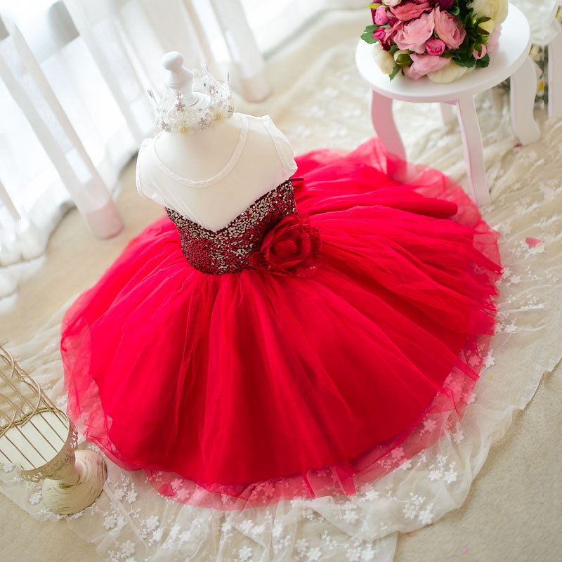 2015 summer style baby girl princess birthday party dress