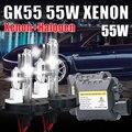 DC 55 W HID XNEON KIT H4-2 H13-2 9004 9007 HALÓGENO H4 y el kit del xenón 4300 k 5000 k 6000 k 10000 k hid kit de conversión h4