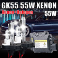 DC 55W HID H4 XNEON KIT H4-2 H13-2 9004 9007  HALOGEN and xenon kit 4300k 5000k 6000k 10000k hid conversion kit h4