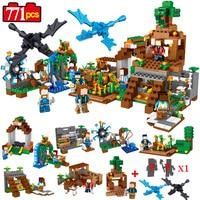 771pcs 8 In 1 Minecrafted Manor Estate House My World Model Building Blocks Bricks Kids Mini