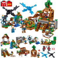 771pcs 8 In 1 Minecrafted Manor Estate House My World Model Building Blocks Bricks Kids Mini