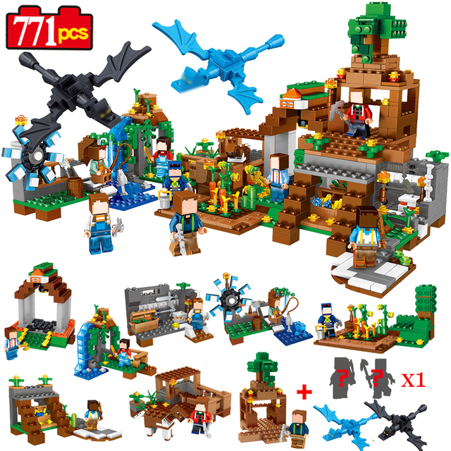 771pcs 8 in1 Minecrafted Manor Estate House My World model Building Blocks Bricks set Compatible Legoed boys toy for children 18