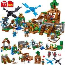 771pcs 8in1 Minecrafted Manor Estate House My World model Building Blocks Bricks set Compatible Legoed city