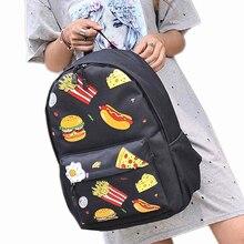 Фантазии гамбургер элегантный дизайн рюкзак Для женщин школьный для подростков путешествовать Сумки на плечо Студенческие Ранец оптовая продажа noJE22