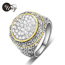 UNY Ring Pave CZ Stone Party Rings Christmas Valentine Gift Vintage Wedding Ring Fashion Brand Hardy Jewelry Women Antique Rings