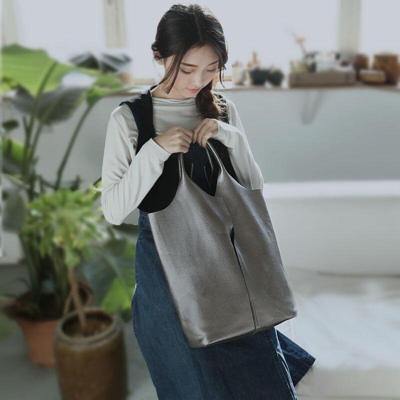 Vendange модная простая женская сумка из натуральной кожи коровья кожа ручная работа сумка на плечо 2539
