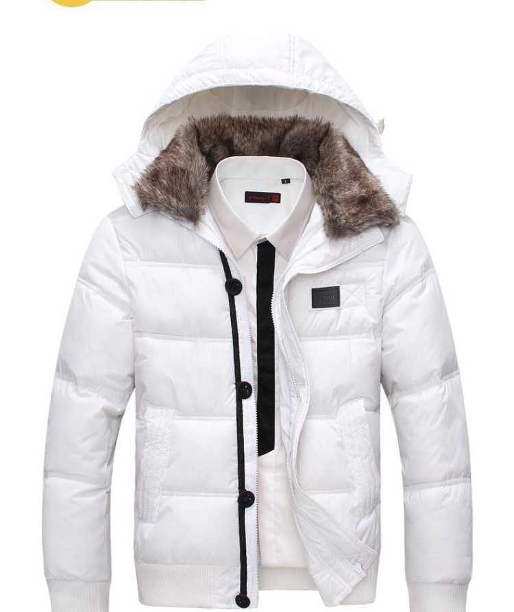 ФОТО 2015 Hot Outwear Mens Warm Hoodie Hooded Parka Winter Coat Outwear Down Jacket Coat Fashion Black Men's Hooded Down Jacket H4598