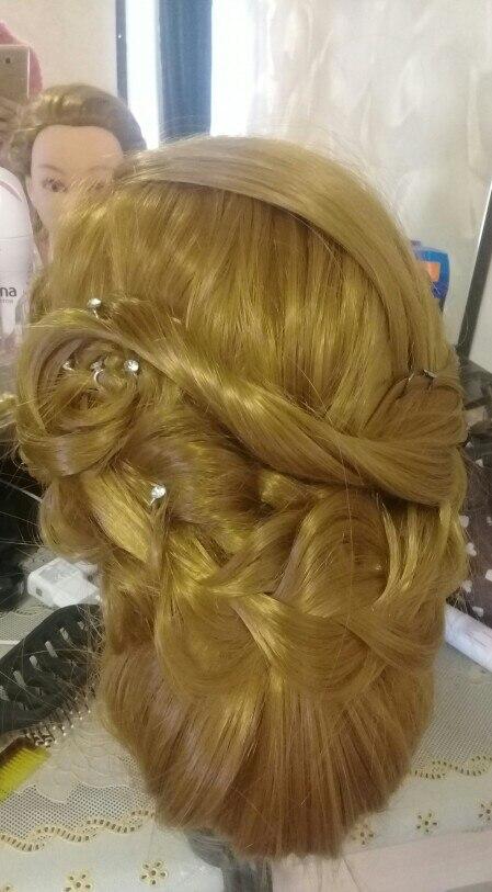 CAMMITEVER 20 tums hårstyling mannequin huvud frisyrer långt hår - Konst, hantverk och sömnad - Foto 3