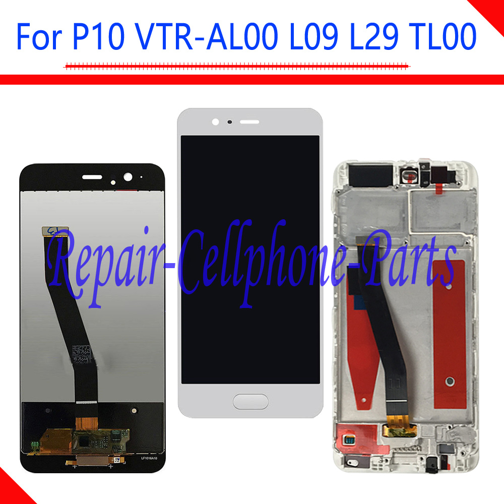 New Black / White Full LCD DIsplay + Touch Screen Digitizer With Frame Assembly For Huawei P10 VTR-AL00 VTR-L09 VTR-L29 VTR-TL00New Black / White Full LCD DIsplay + Touch Screen Digitizer With Frame Assembly For Huawei P10 VTR-AL00 VTR-L09 VTR-L29 VTR-TL00