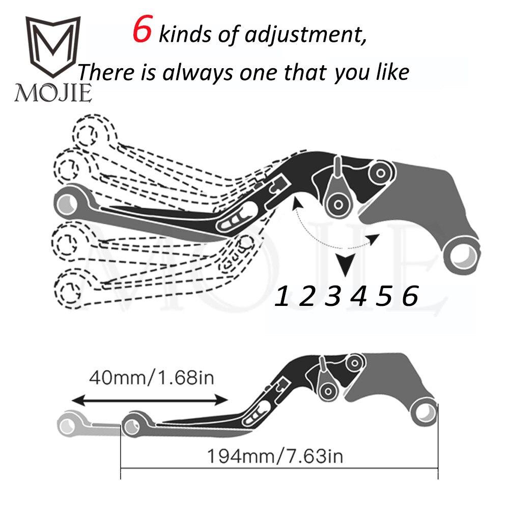 For Honda VFR800 VFR 800 1998-2004 1999 2000 2001 2002 2003 Motorcycle CNC Adjustable Foldable Brake Clutch Lever Handle Grips