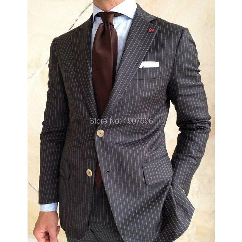 Black Stripe Men Suits for Wedding Groom Tuxedos Two Piece Jacket Pants Latest Design Male Clothing in Suits from Men 39 s Clothing