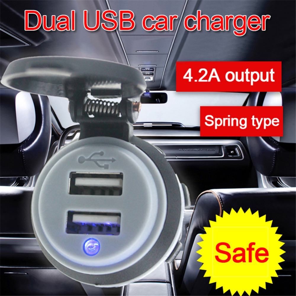5v 4.2a Car Charger Dual Usb Phone Charger With Dual Usb Led Display For Iphone/ipad/android Cellphone/tablet Pc/navigator/gps Good For Antipyretic And Throat Soother Mobile Phone Accessories