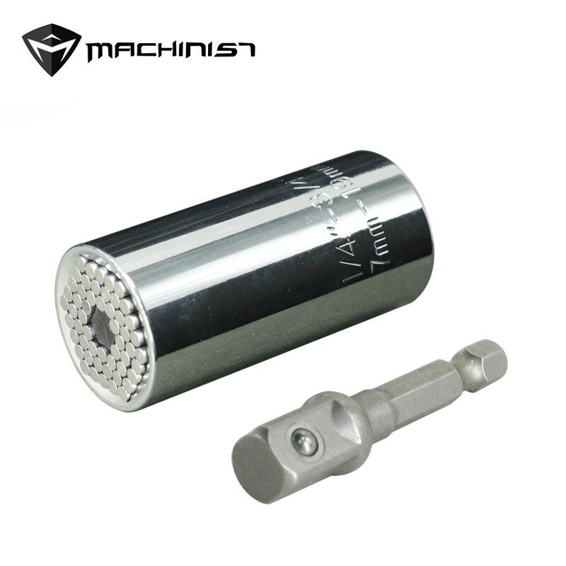 Multi Universal llave de torsión de la cabeza conjunto hembra de manga 7-19mm taladro adaptador trinquete casquillo llave agarre mágico herramientas de mano