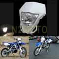 Motocross faro 12 v 35 w faro para kawasaki kx klx yamaha wr250f wr450f 250 450 2012-2016 blanco dirtbike