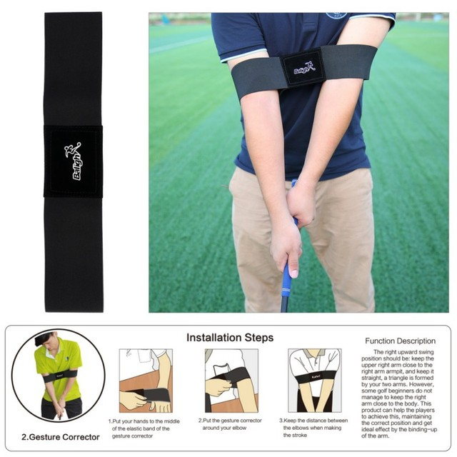 Golf Beginner Training Aids 5 boxes/Set Golf Posture Elbow Guide Wrist Corrector Braceband Arm Leg Golf Swing Trainers