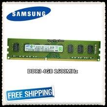Samsung memória ram ddr3, memória de desktop 4gb 8gb 1600mhz 4g PC3-12800U computador pc ram 1600 12800