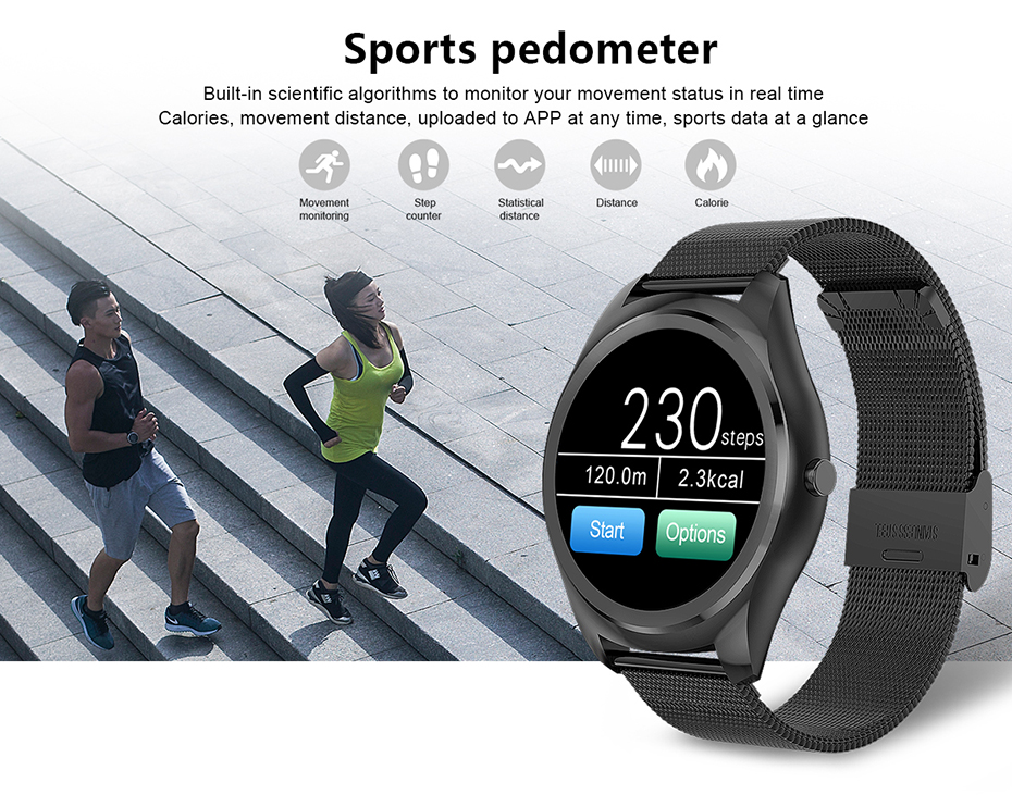 COLMI N3 Pro 1.3 inch Smart Watch MTK2502 HD Slim Bluetooth Call Media Heart Rate Monitor Fitness Tracker Pedometer Smartwatch 9