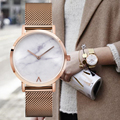 Minimalist Style Hot Fashion Luxury Brand Marble Watch Stainless Steel Strap Simple Women Dress Watches BGG Woman Quartz Clock