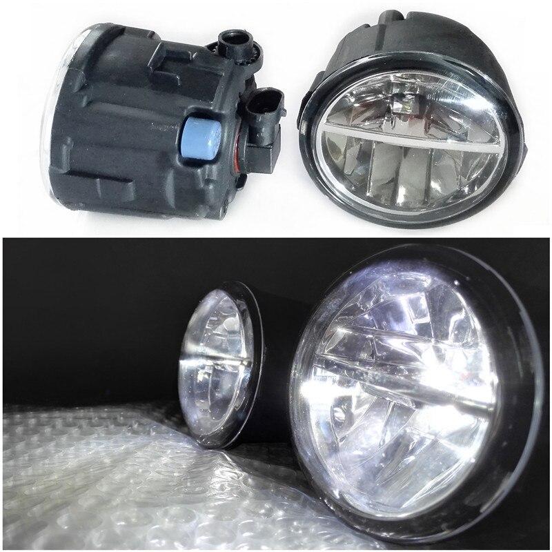 Car Styling 6000K White 10W CCC High Power LED Fog Lamps DRL Lights For Infiniti FX 30d FX30D  FX35  FX37  FX45  FX50  2006-2014 for lexus rx gyl1 ggl15 agl10 450h awd 350 awd 2008 2013 car styling led fog lights high brightness fog lamps 1set