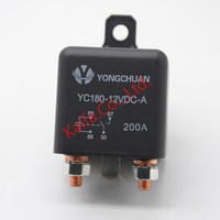 Car Truck Motor Automotive High Current Relay 12V 200A 2 4W Continuous Type Automotive Relay Car