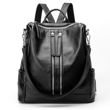 2017 мода Стиль WomenBackpack Кожа Черного Плеча Мешки Школы Для Девочек Drawstring Путешествия Рюкзак Bolsa Feminina