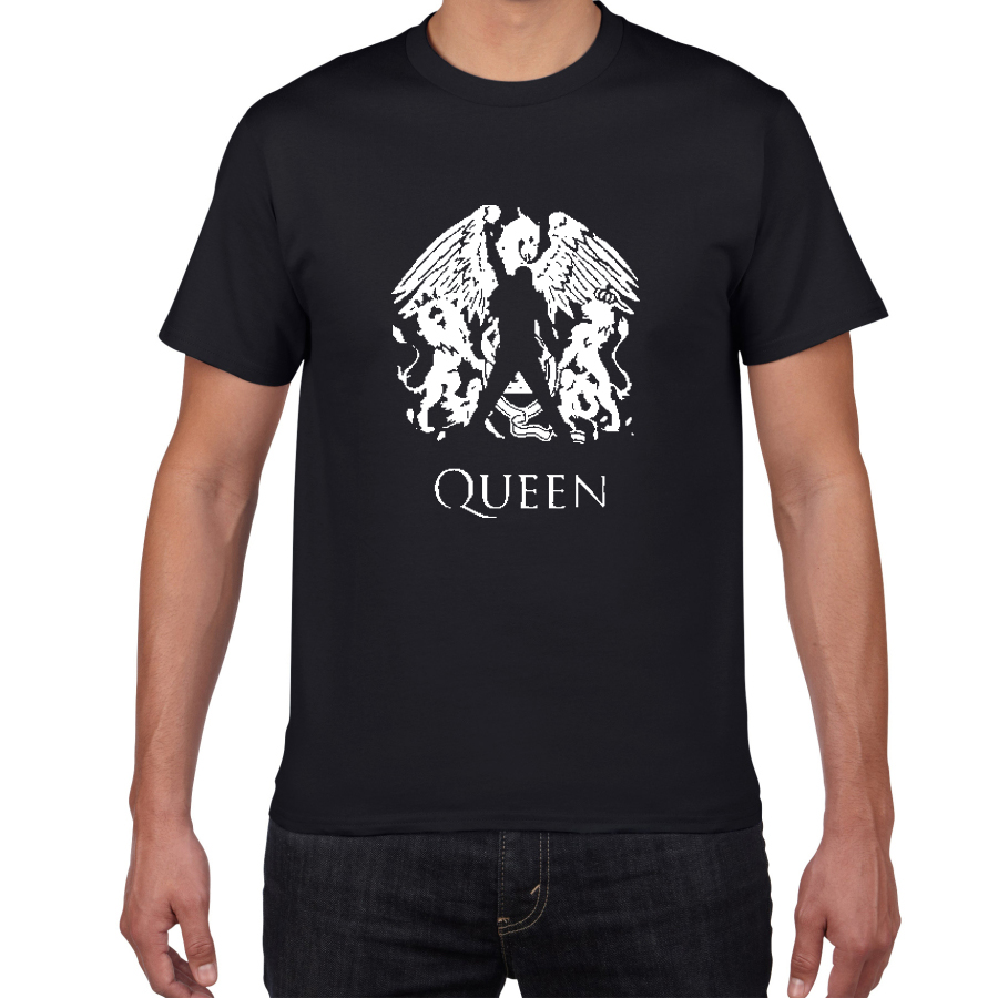 Freddie Mercury The Queen Band T-Shirt Mens Hip Hop Rock Hipster T Shirt Casual Tshirts  Glitter Rock Band  Harajuku Top Tees