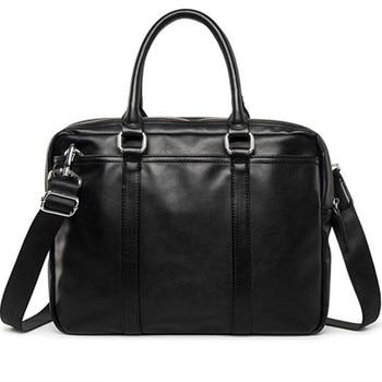 Men's Luxury Leather Laptop Bag Or A Laptop Briefcase