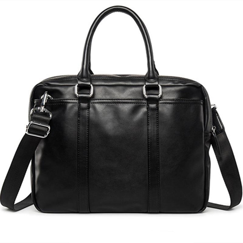 Nouvelle Promotion Simple Marque Designer D'affaires porte-documents pour homme De Luxe En Cuir pochette d'ordinateur Homme sac à bandoulière bolsa maleta