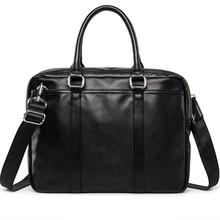 Nowa promocja proste projektant marki ludzi biznesu teczki torby luksusowe skórzana torba na laptopa torba torba męska na ramię bolsa maleta tanie tanio Zamek Stałe Moda Poliester Pojedyncze CH603 Men Briefcase Bag 38cm 0 8kg Good Quality PU Leather 28cm Ił kieszeń Miękki uchwyt