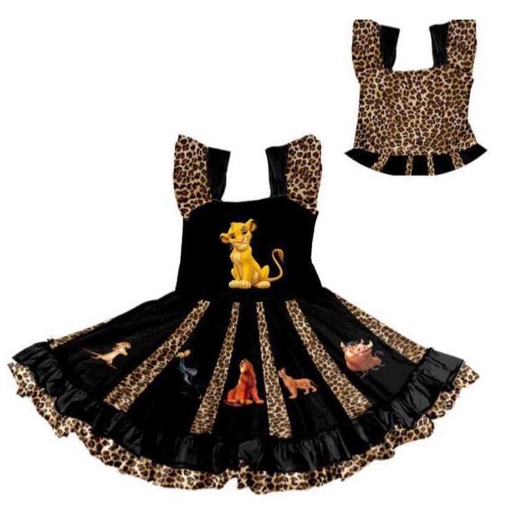The best-selling lion animal style girl new children's rotating dress(China)
