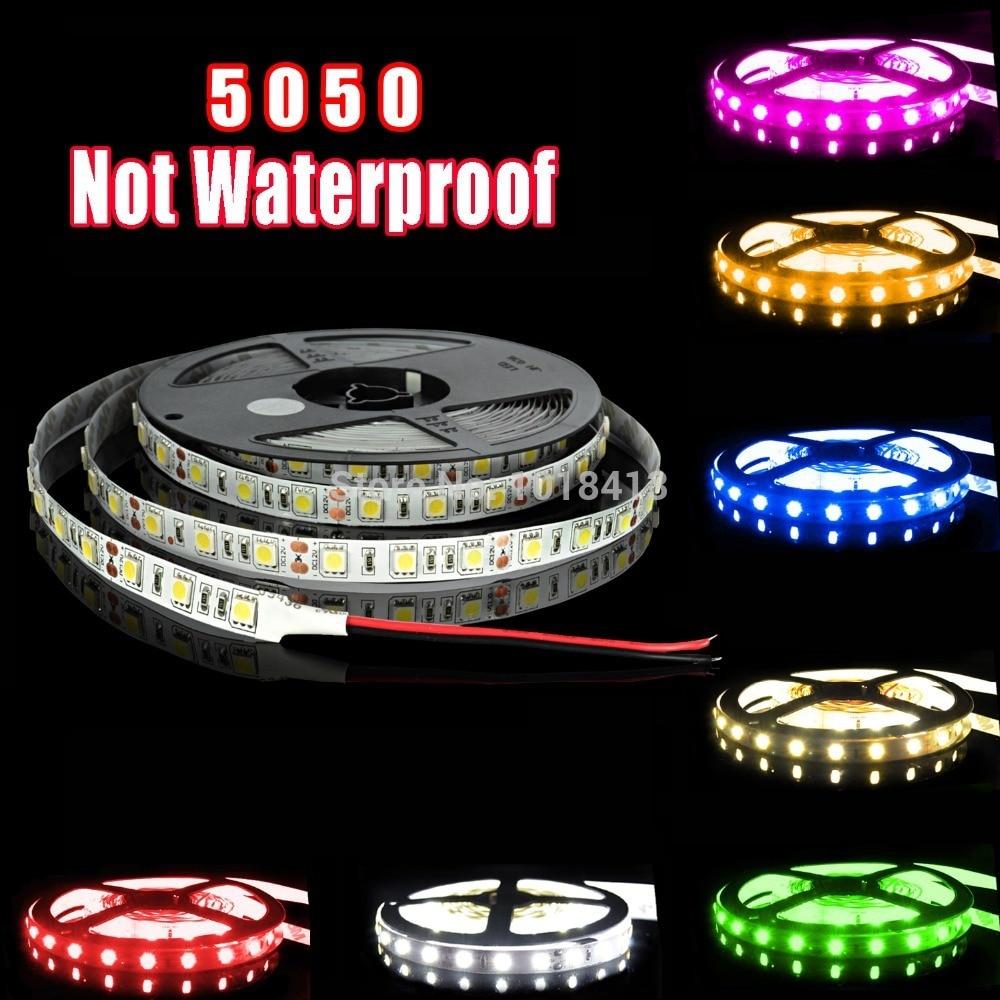 Bright 5050 Tape Light: YIJINSHENG High Bright 5050 5m LED Strip Light NON