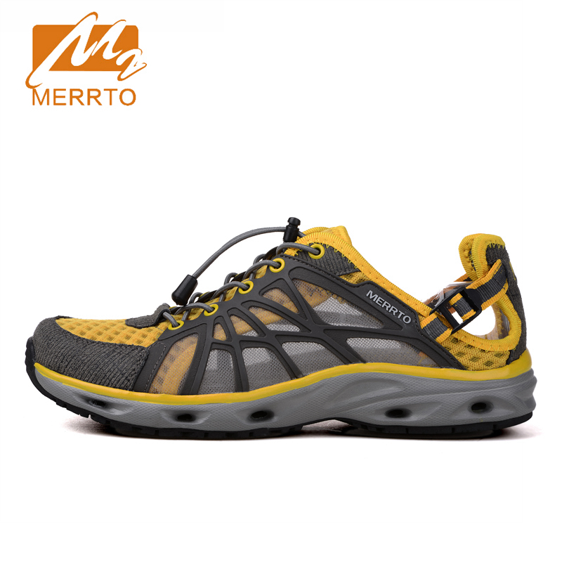 2017 Merrto Men Water Shoes Summer Quick Dry Beach Shoes Breathable Mesh Outdoor Aqua Shoes For Men Free Shipping MT18375  2017 clorts womens water shoes summer outdoor beach shoes quick dry breathable aqua shoes for female green free shipping wt 24a