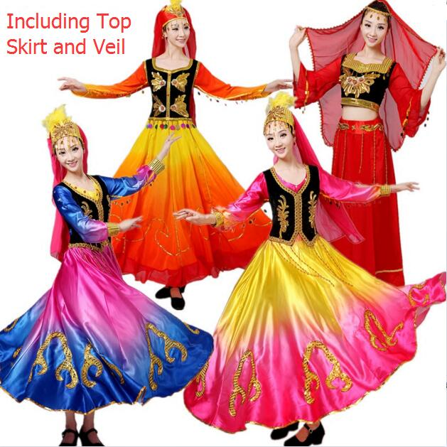 e7ab7e101940 Chinese Folk Dance Costume Ancient Traditional National Minority Xin ...
