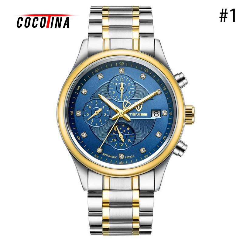 COCOTINA Classic Watches Sports Men 's Automatic Mechanical Watches Casual Business Creative Watches 3 Eyes 6 Needles LJX0NYF велосипед scool chix classic 20 3 s 2017