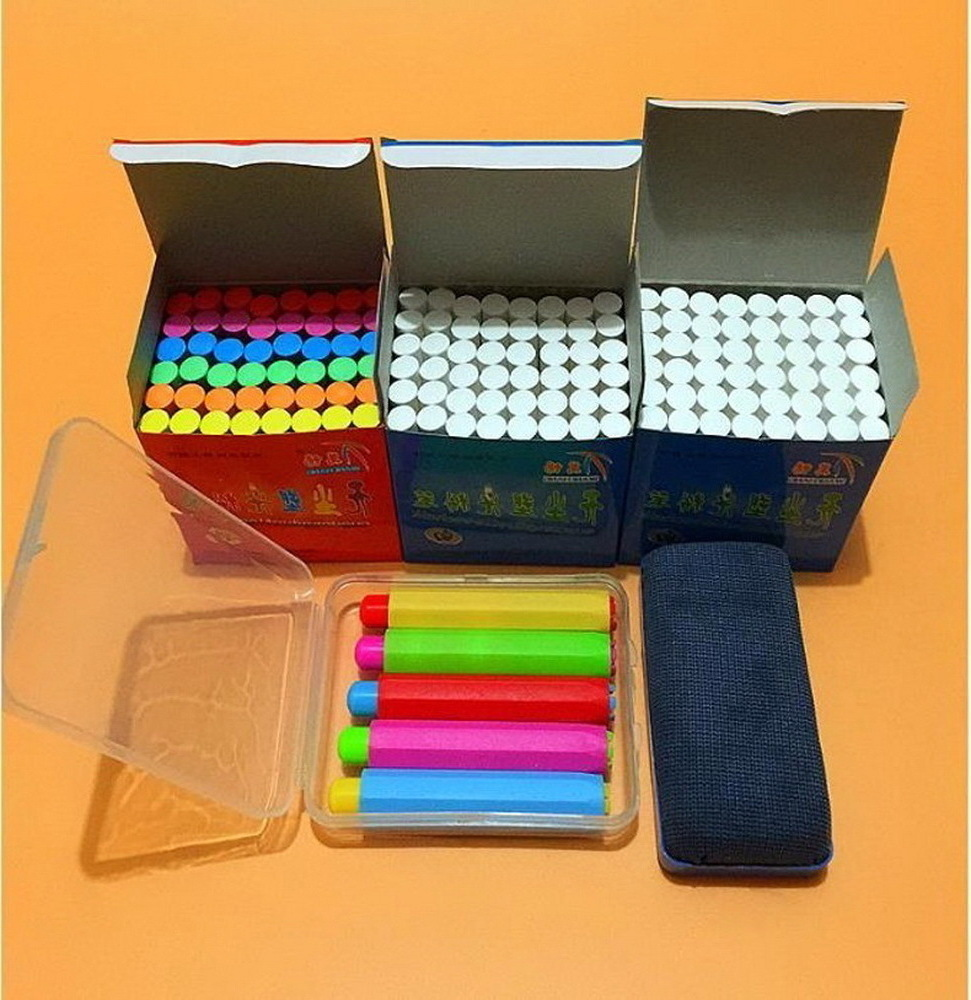Hot Free shipping/Clean non-toxic environmental health bright chalk/The teacher in class dedicated dustless chalk 10pcs pack korea colorful chalk dust free chalk non toxic chalk