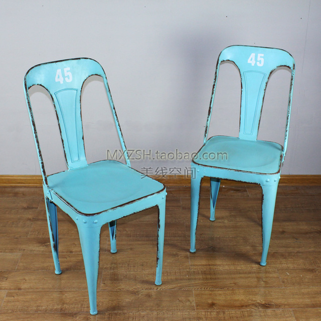 Mining French Country Style Retro Do The Old Metal Furniture Bar Stool  Chairs Child Armchair
