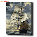 TwoSteps Giant Sailing Diy Digital Canvas Oil Painting By Numbers Coloring By Numbers Modern Large Acrylic Paint By Number Kits