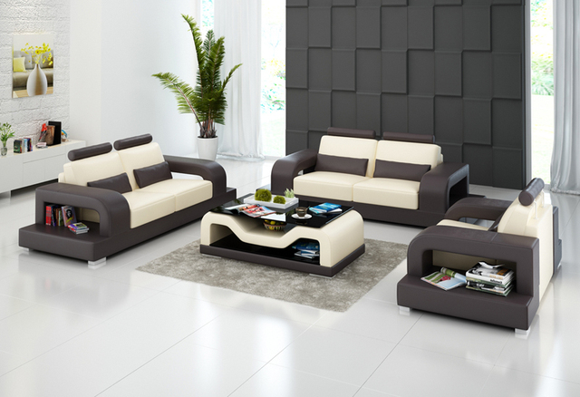 New Design Combination Style Living Room Leather Sofa Set G8007d