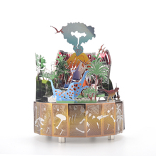 Dinosaur Park Theme DIY Metal Music Box Classic Crafts Clockwork Home Decor Christmas Gift Birthday Party
