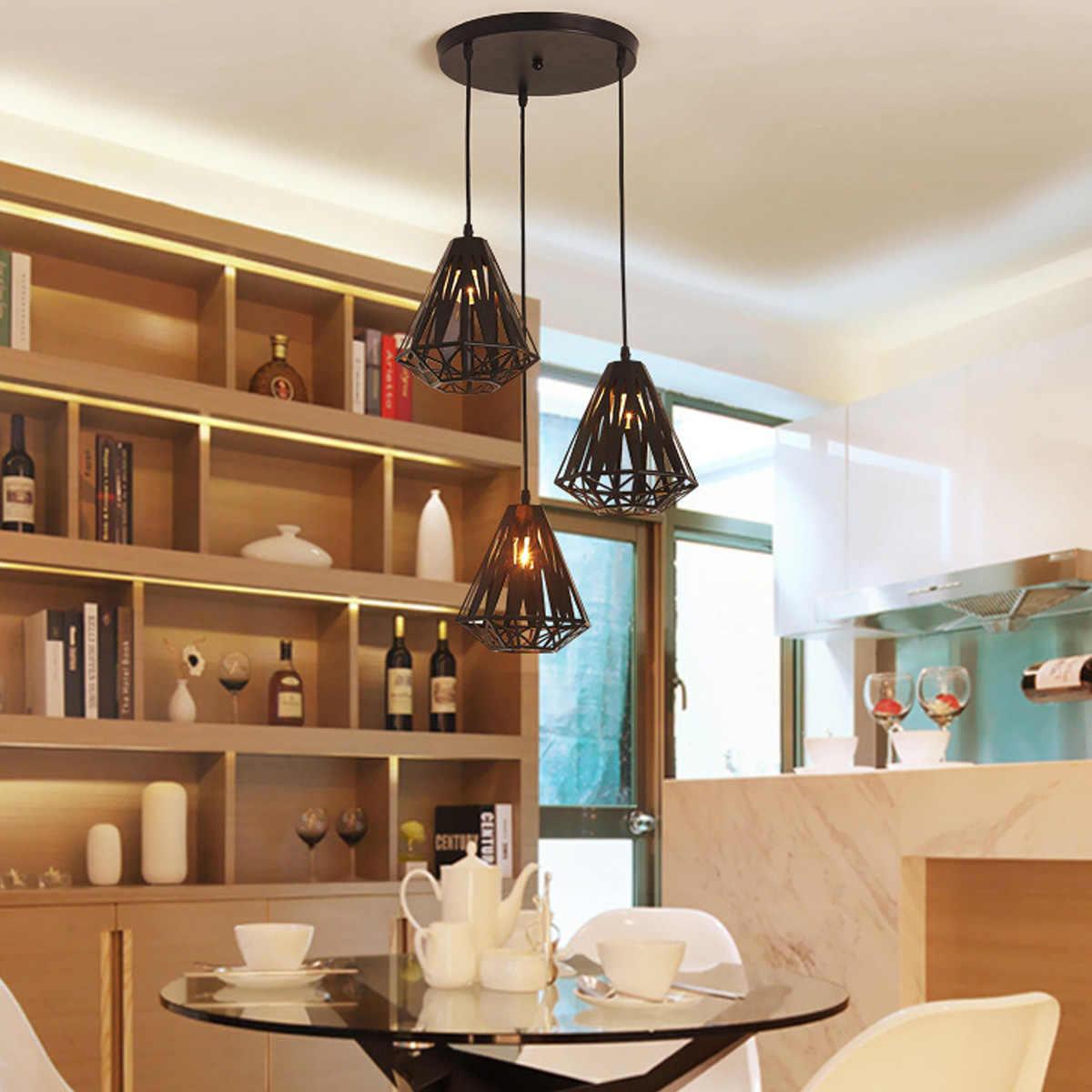 YWXLight E27 современная люстра в минималистическом стиле Ресторан кованого железа люстра индивидуальный светильник Арт Бар креативного освещения